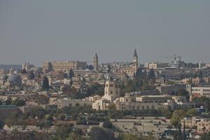 ville de jérusalem en israël photo