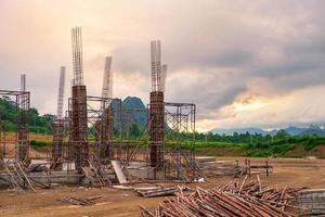 fond de chantier de construction qui n'a pas encore été terminé photo