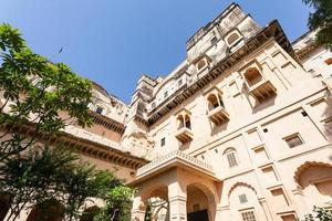 Neemrana fort au Rajasthan, Inde photo