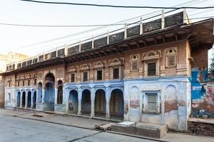 Maison colorée à Khandela, Rajasthan, Inde photo
