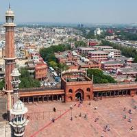 Vue depuis le minaret de Jama Masjid à New Delhi, Inde photo