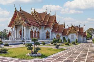 temple de marbre à bangkok photo
