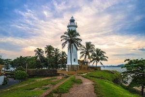 phare et côte de galle à galle au sri lanka photo