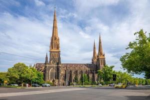 La cathédrale Saint-Patrick à Melbourne en Australie photo