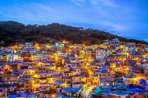 Célèbre attraction village culturel de gamcheon à busan en corée du sud photo