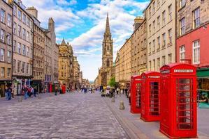 Vue sur la rue d'Édimbourg, Ecosse Royaume-Uni photo