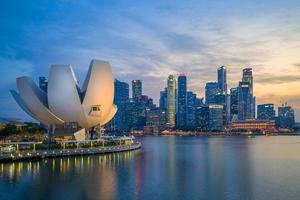horizon de singapour par la marina bay photo