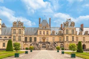 Palais de fontainebleau près de paris en france photo