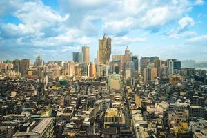 paysage urbain de macao en chine photo