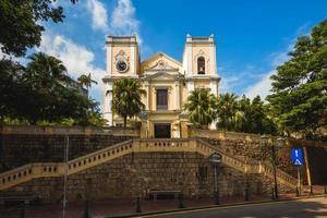 L'église Saint-Laurent est l'une des plus anciennes églises de Macao, Chine photo