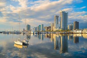 Port de Manille à Manille Bay aux Philippines photo