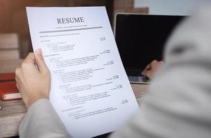 RH audit CV papier candidat photo