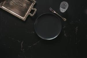 mise à plat d'articles de luxe pour le dîner photo