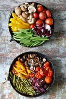 légumes au four dans une casserole photo