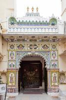 Palais de la ville d'udaipur au rajasthan, inde photo