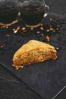 baklava turc au thé noir bio photo