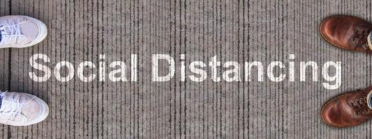 distanciation sociale coronavirus covid-19 virus concept de distance sociale photo