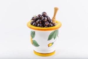 cassis, baies du jardin bio sain goût d'été fruits sauvages photo