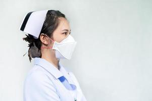 les infirmières portent des masques pour se protéger du coronavirus covid19 photo