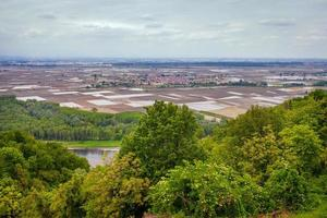 vue sur la vallée de padana po depuis les collines du monferrato photo