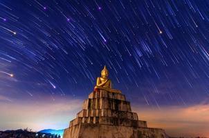 statue de bouddha météore nakhon si thammarat thung yai thaïlande photo