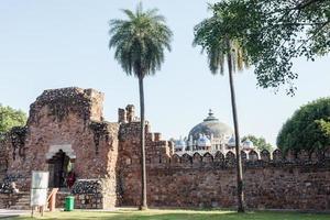 Tombe d'isa khan à new delhi, inde photo