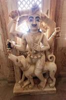 Statue à fort Bikaner au Rajasthan, Inde photo