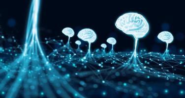intelligence artificielle et remue-méninges avec le développeur de croissance d'entreprise. photo