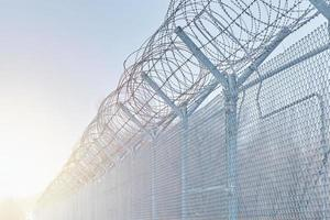 clôture de zone réglementée photo