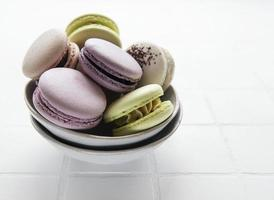 macarons français colorés photo