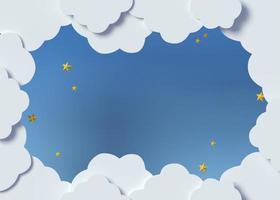 mise en accusation à air chaud de nuages 3d photo