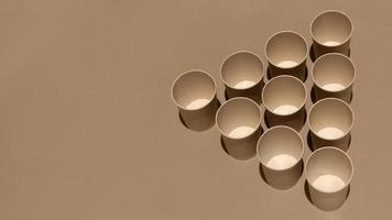 gobelets en carton grand angle avec espace de copie photo