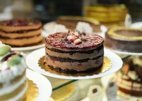 le délicieux gâteau aux fraises photo