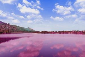 le paysage vaporwave rétro coloré photo