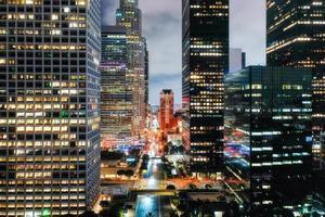 vue aérienne créative cityscape.creative vue de dessus complexe photo