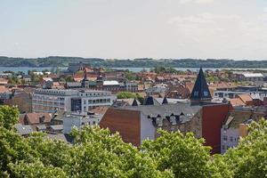 Bâtiments de la ville de Fredericia au Danemark photo