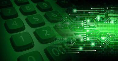 fond de concept de technologie future cyber circuit photo