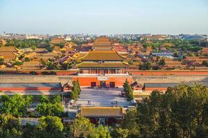 la cité interdite vue de la colline de jingshan photo