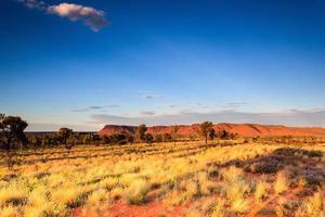 Kings Canyon au coucher du soleil territoire du nord Australie photo
