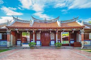 Façade du temple de Confucius à tainan, taiwan photo