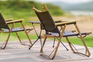 chaise de camp portative de meubles de jardin photo