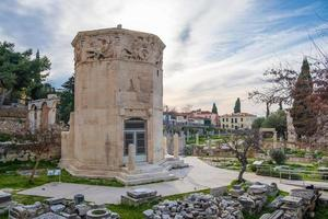 Vestiges de l'agora romaine et de la tour des vents à Athènes, Grèce photo