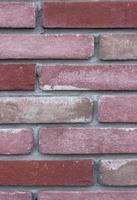 gros plan d'un mur de brique rose photo