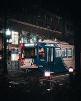 Salt Lake City, Utah 2020- transports publics de nuit à Salt Lake City photo