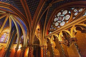 paris, france, 2021 - intérieur sainte-chapelle photo
