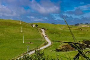 route menant à la plage manakua dirige la nouvelle-zélande photo