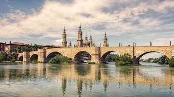 ville de Saragosse en Espagne photo