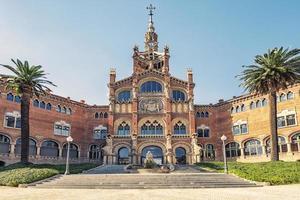 Hospital de sant pau barcelona city est un site du patrimoine mondial de l'unesco, espagne photo