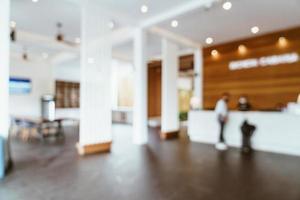 hall de l'hôtel flou abstrait photo