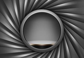 Rendu 3D de noir premium et d'or, piédestal un podium avec un cadre d'obturateur sur fond noir, avec exposition de produits ou espace de copie photo